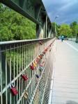 Regensburg, Grieser Steg, padlocks